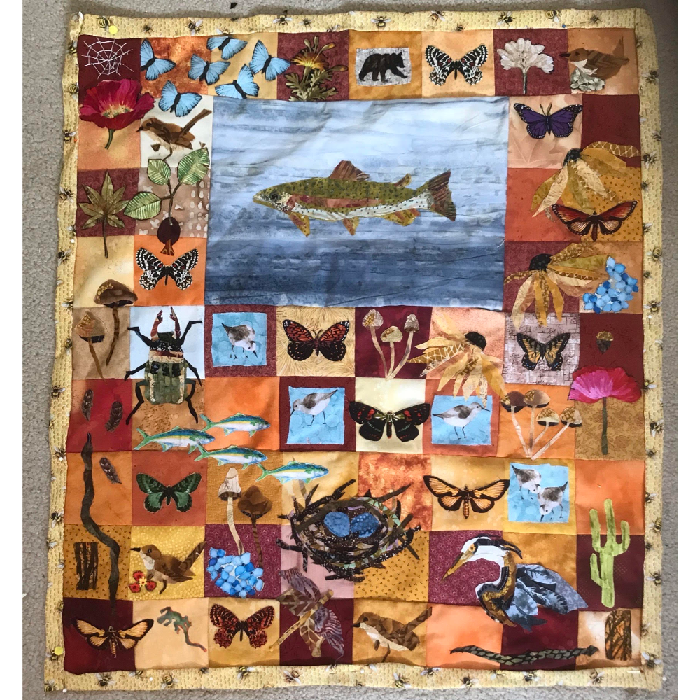One of a Kind, Handmade Wall Hanging Quilt
