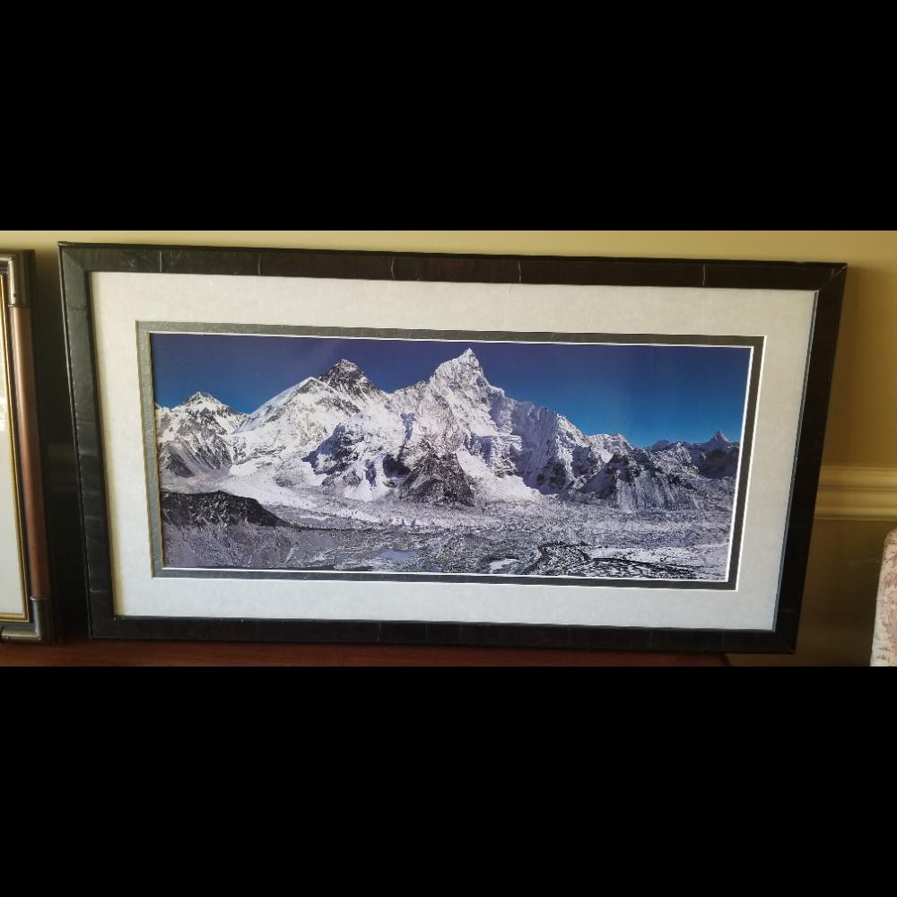 Alpine Mountain Peaks Lithograph