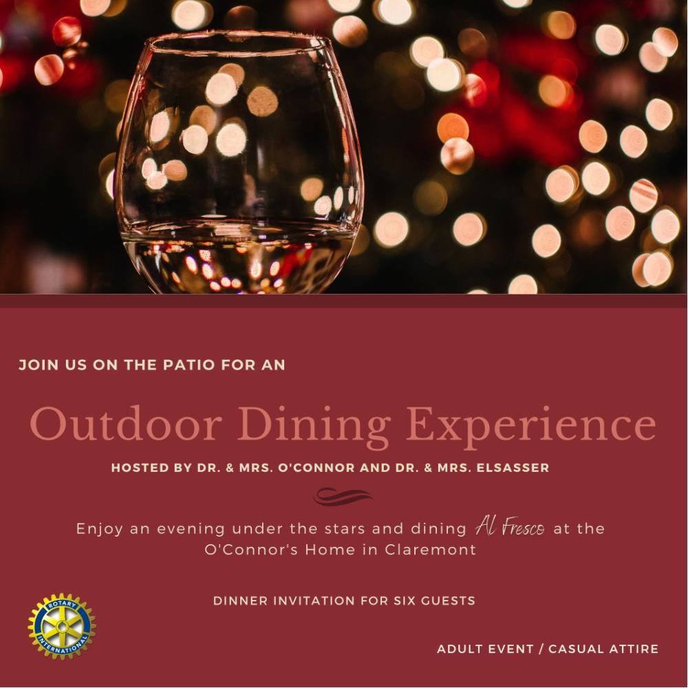 Outdoor Dinner at Home of Dr./Mrs. Brett O'Connor and Dr./Mrs. Jim Elsasser