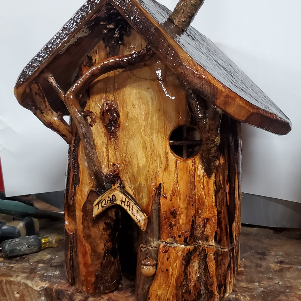 Tree Trunk Toad House
