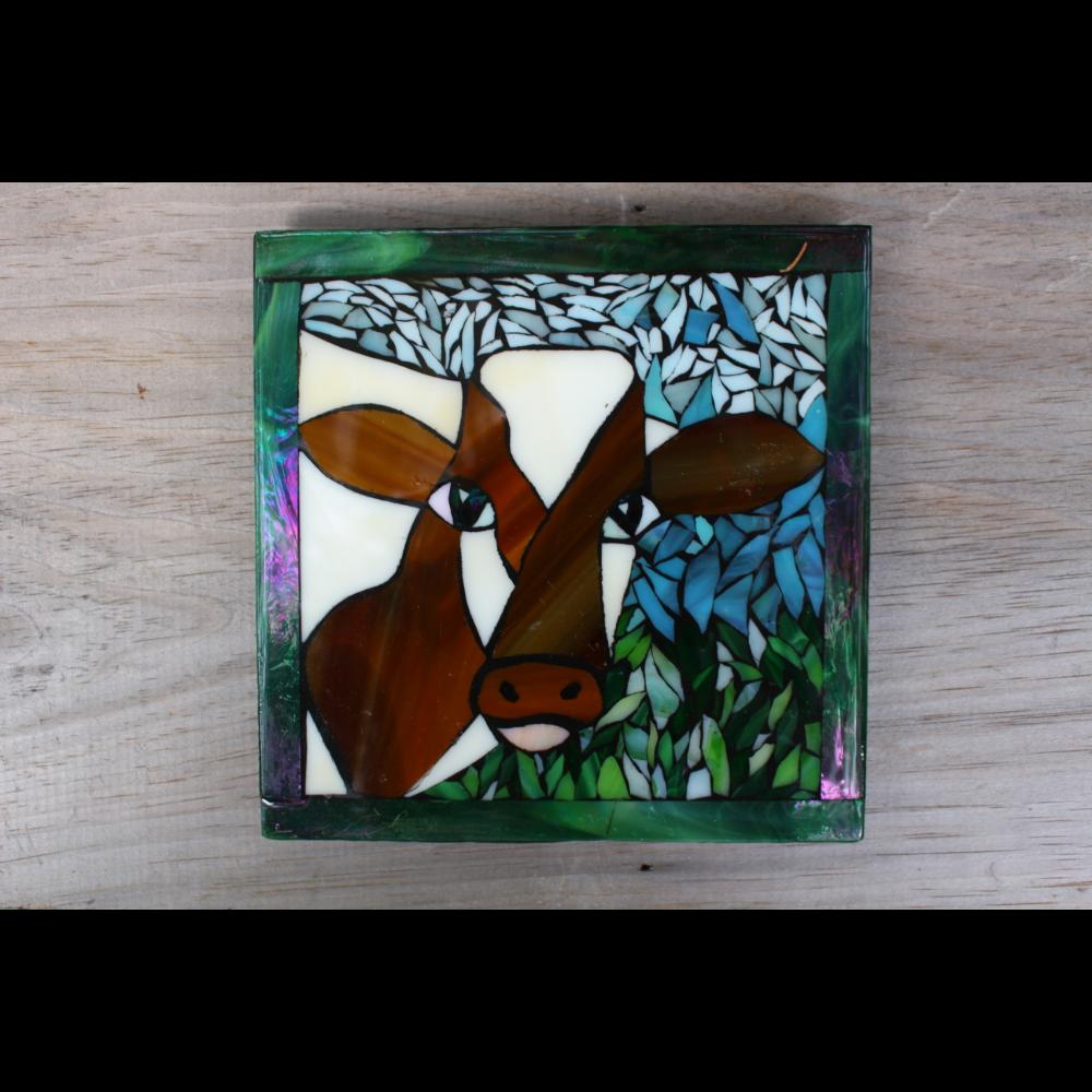 Cow Mosaic Trivet