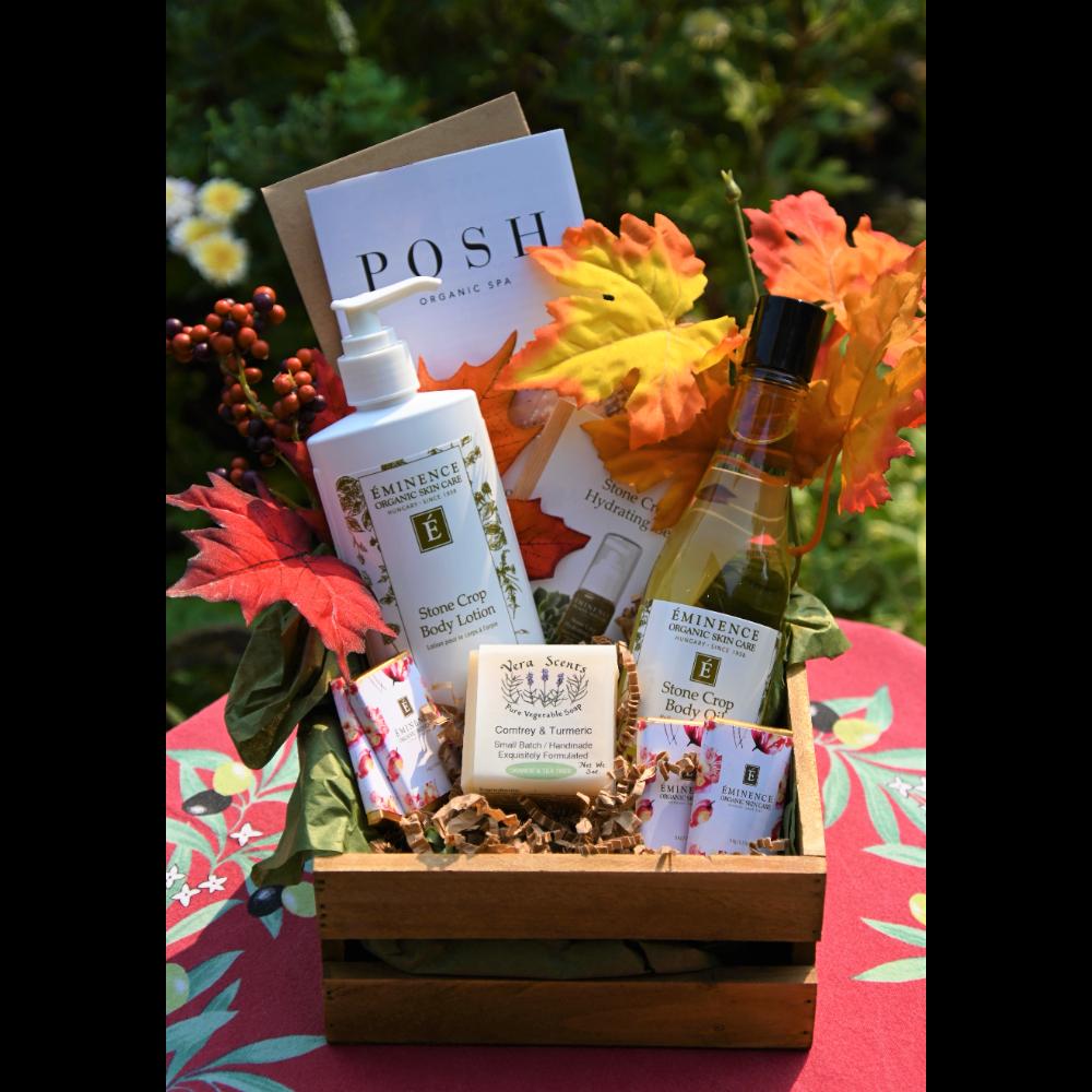 Posh Organics Eminence Skincare Basket