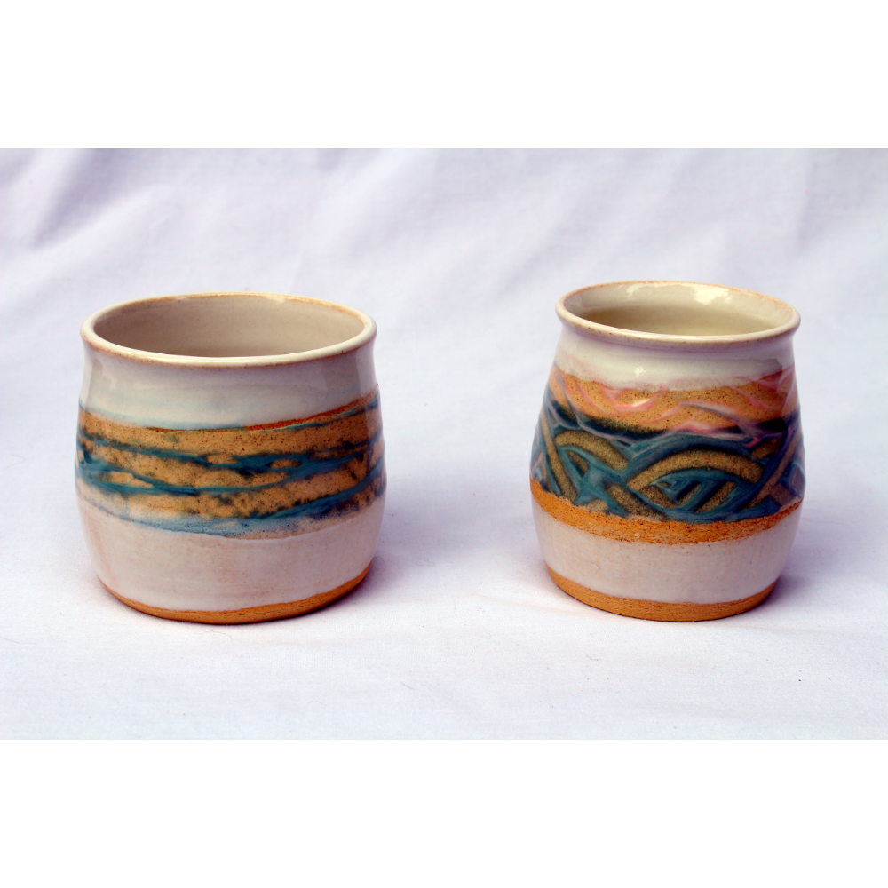 Earthy Turquoise Cups