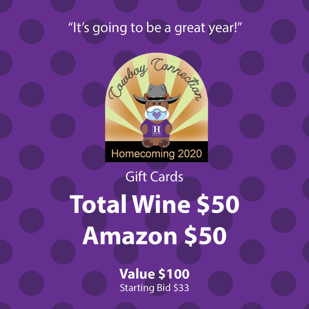 Pair of Gift Cards: Total Wine and Amazon