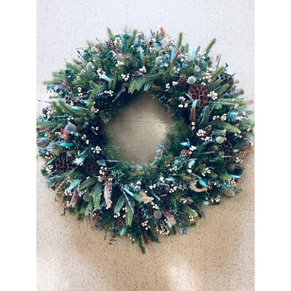 Dried Floral Wreath from NFCU