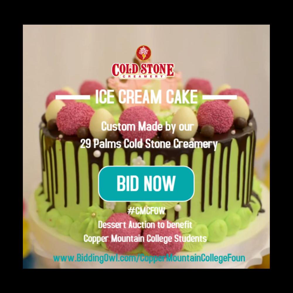 Cold Stone Creamery Ice Cream Cake