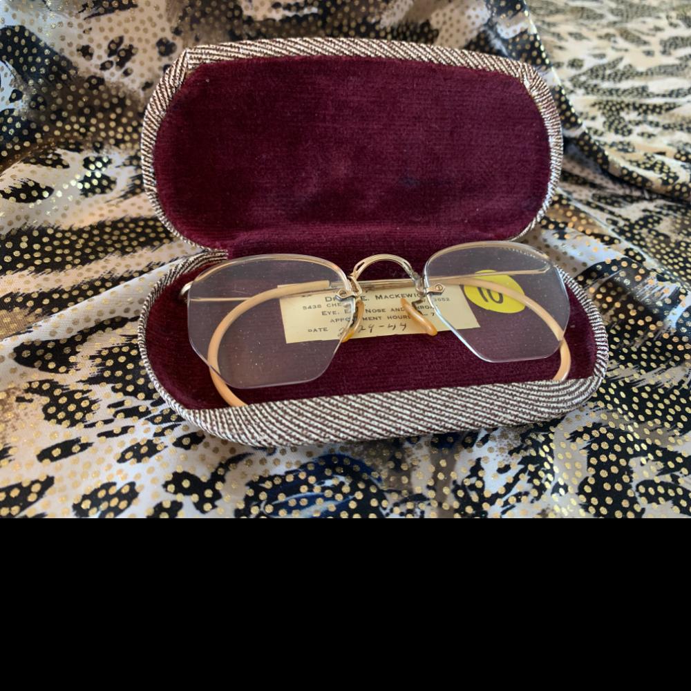Antique Prescription glasses with case
