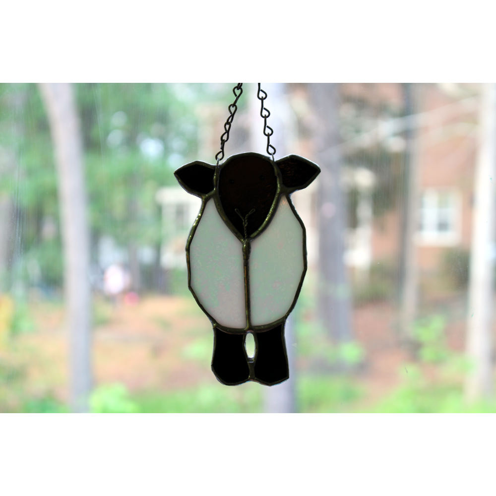 Stained Glass Sheep Suncatcher