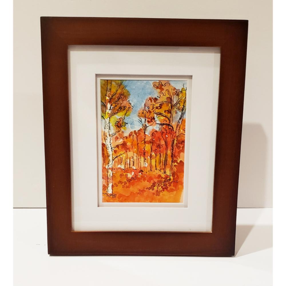 Fall in the Pine Barrens Original Sketch by Elizabeth Muether