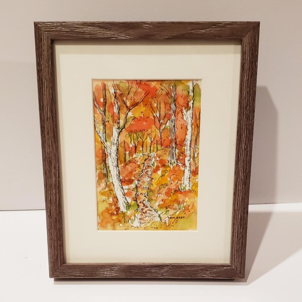 Fall in the Pine Barrens Original Sketch #2 by Elizabeth Muether