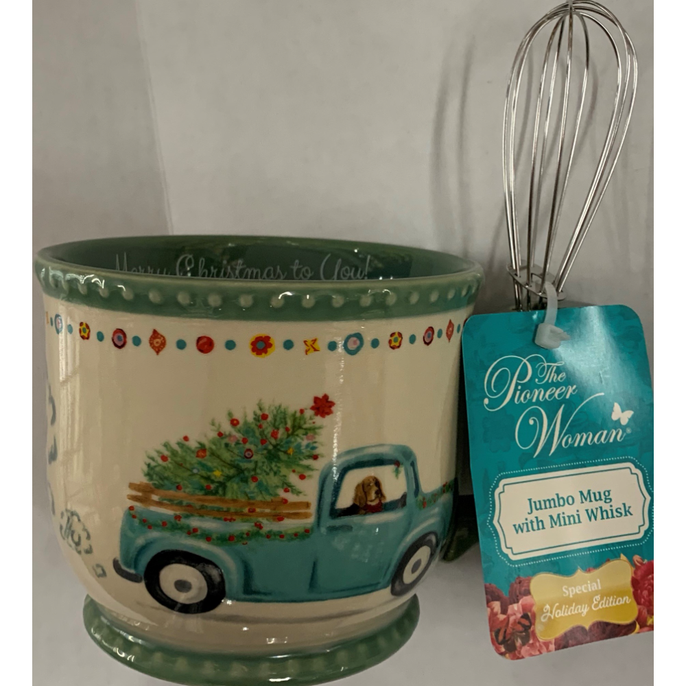 Pioneer Woman Mug with Whisk