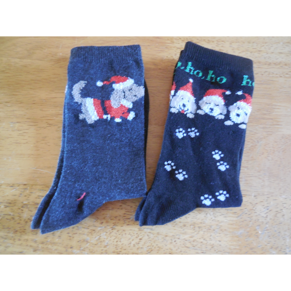Two Pair of Women's Holiday Socks