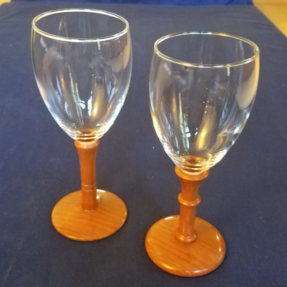 Cherry Wood Wine Glasses