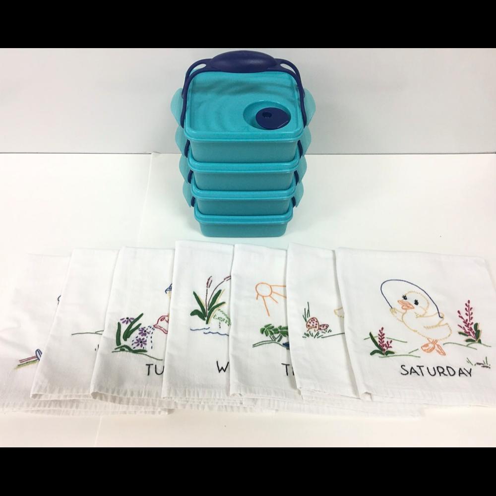 Dish towels/Tupperware set
