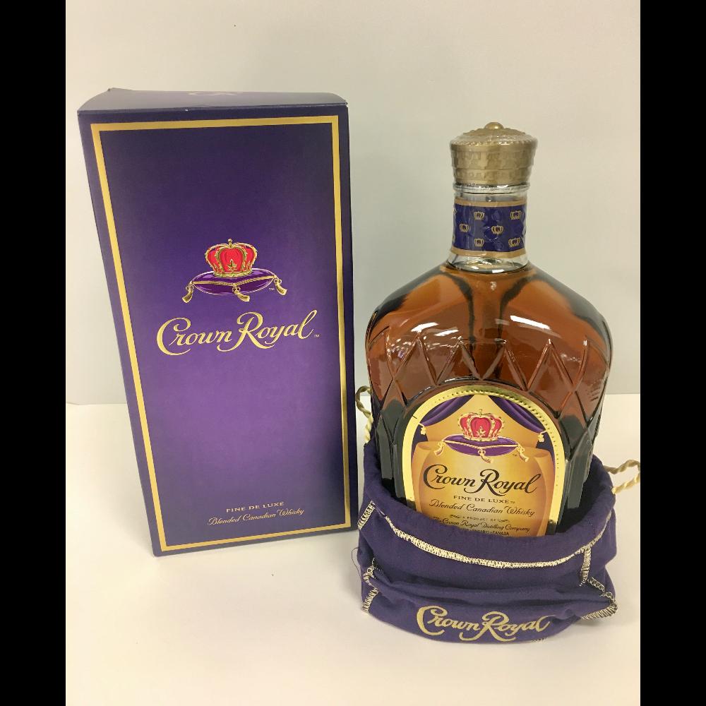 Bottle of Crown Royal