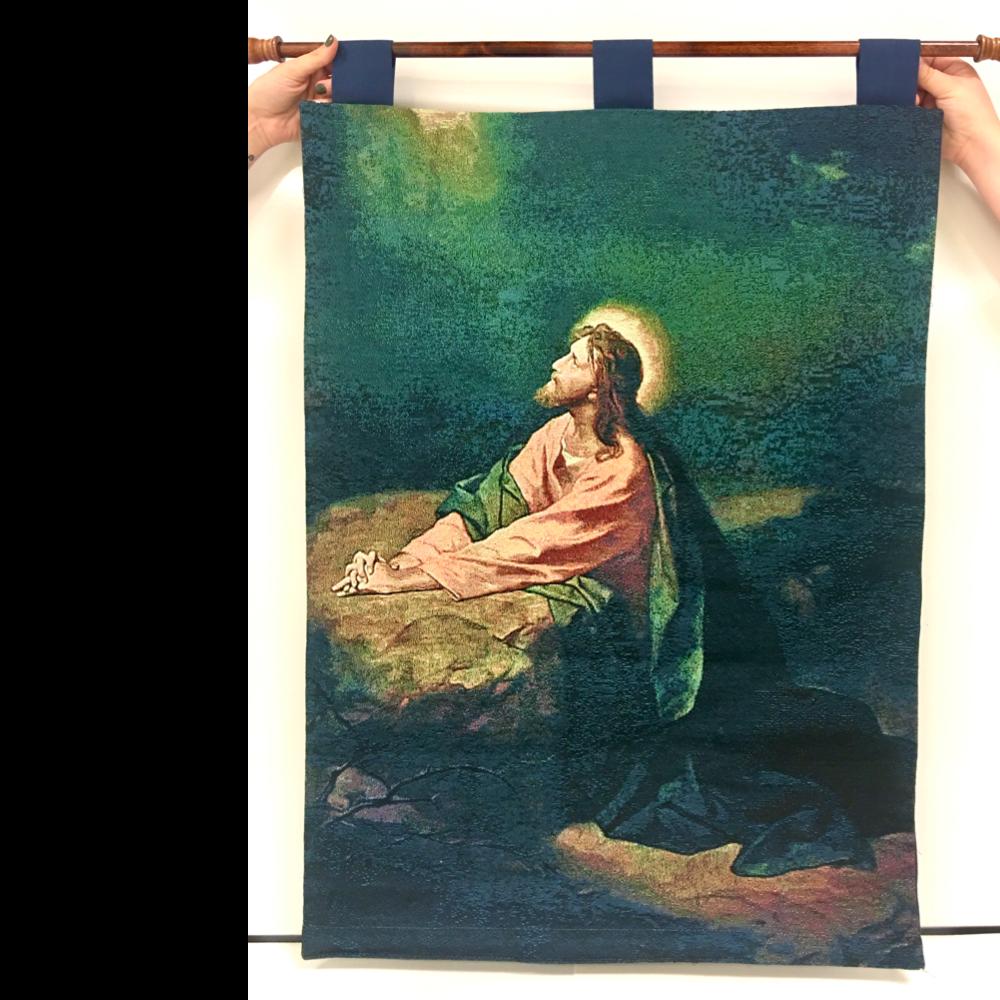 Praying Jesus Tapestry