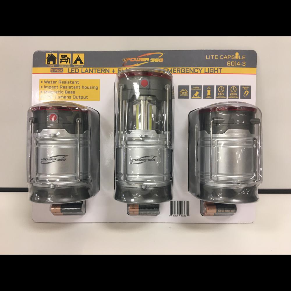 LED Lantern, flashlight and emergency light