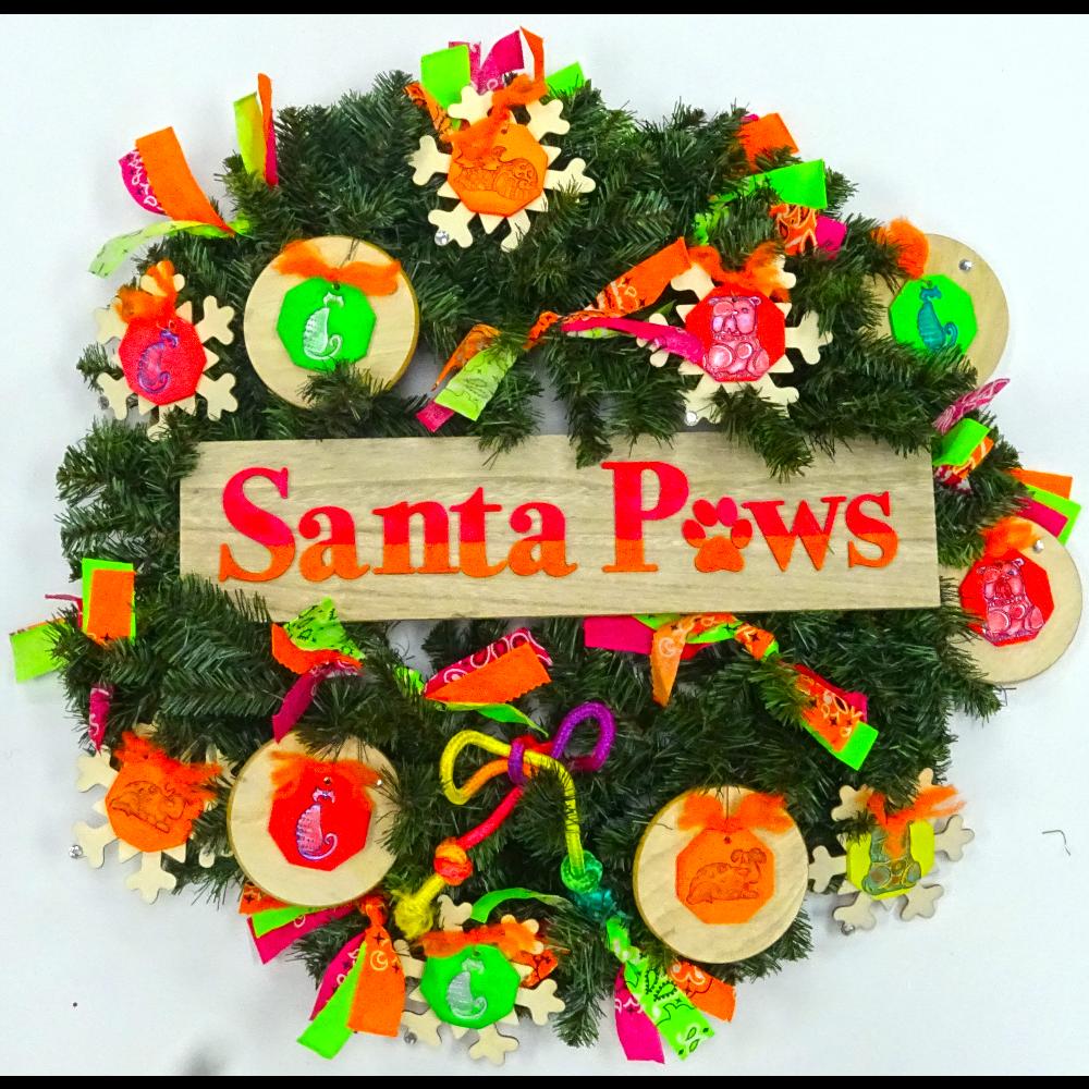 Neon Santa Paws