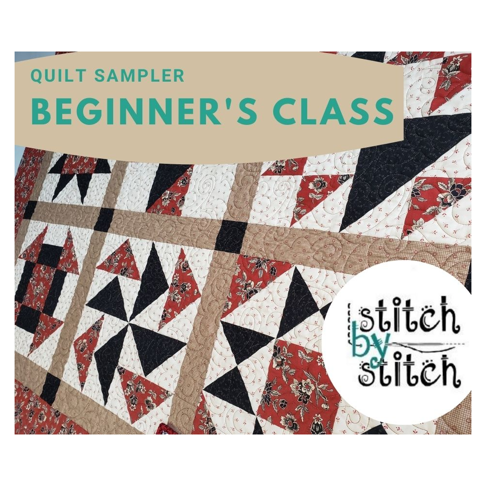 Basic quilting course donated by Stitch by Stitch Kingston