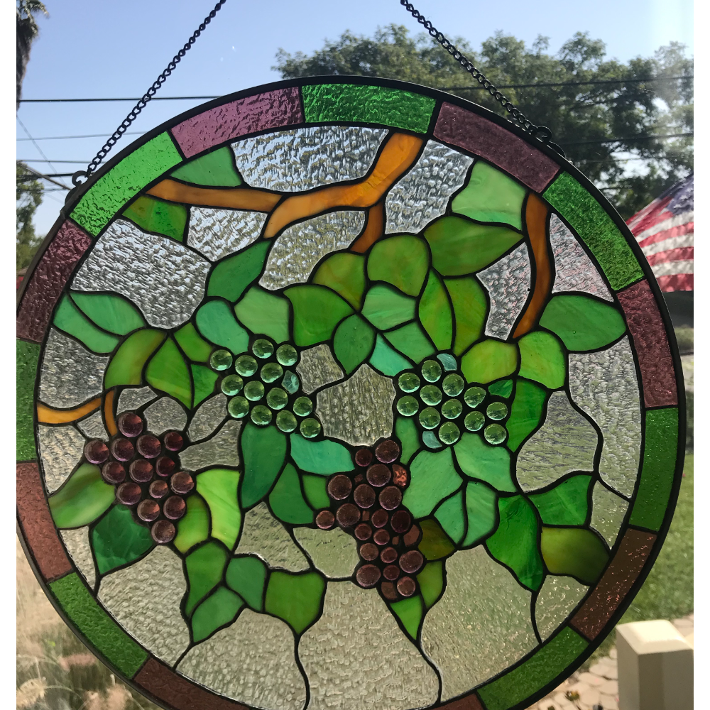Stain-glass Grape Vines