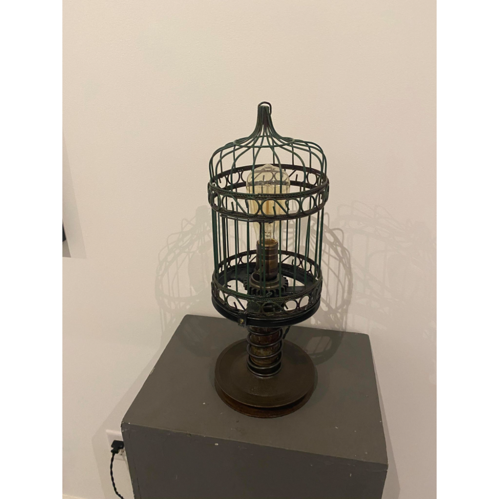 Industrial Birdcage Lamp (by Shawn Jennings)