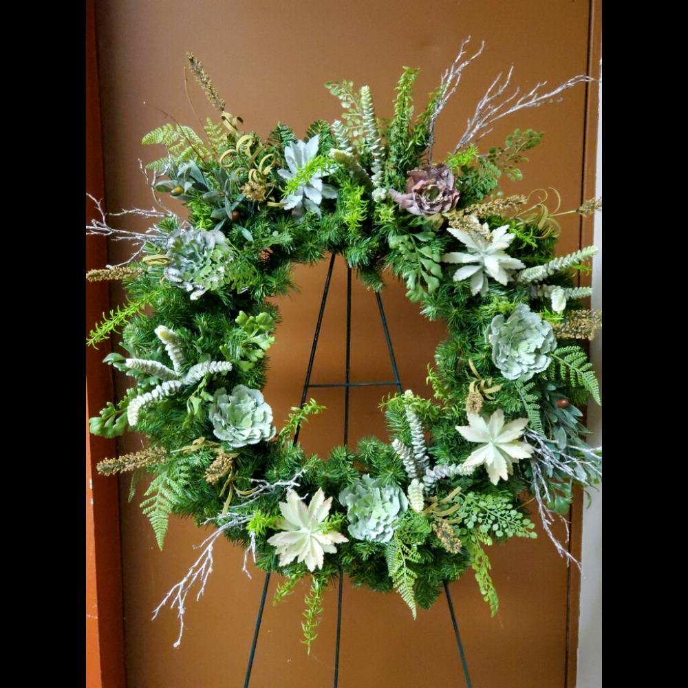 The Queen of Green's Succulent Wreath