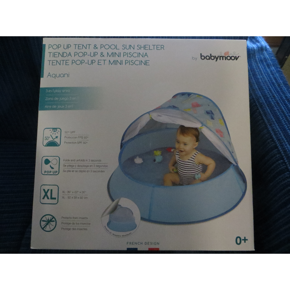 Pop Up Tent & Sun Shelter 3-in-1 Play Area For Baby