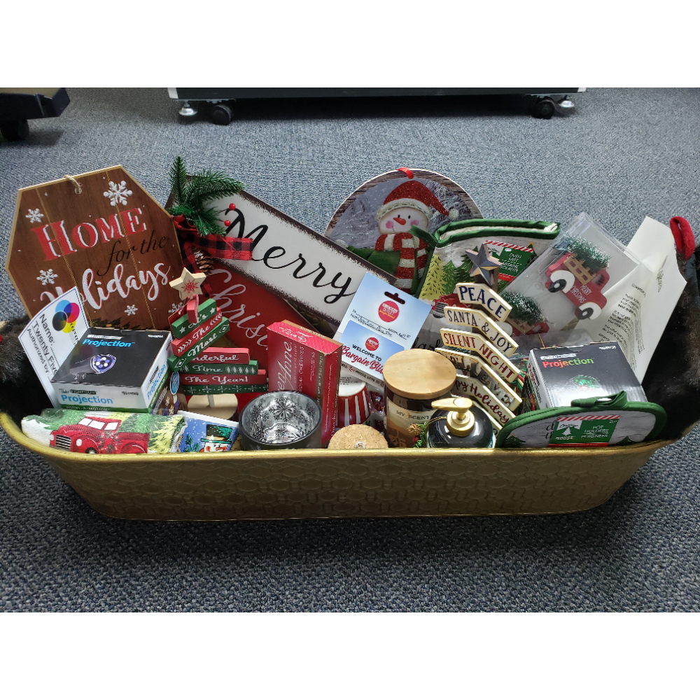 Copy Center Plus Christmas Cheer Basket