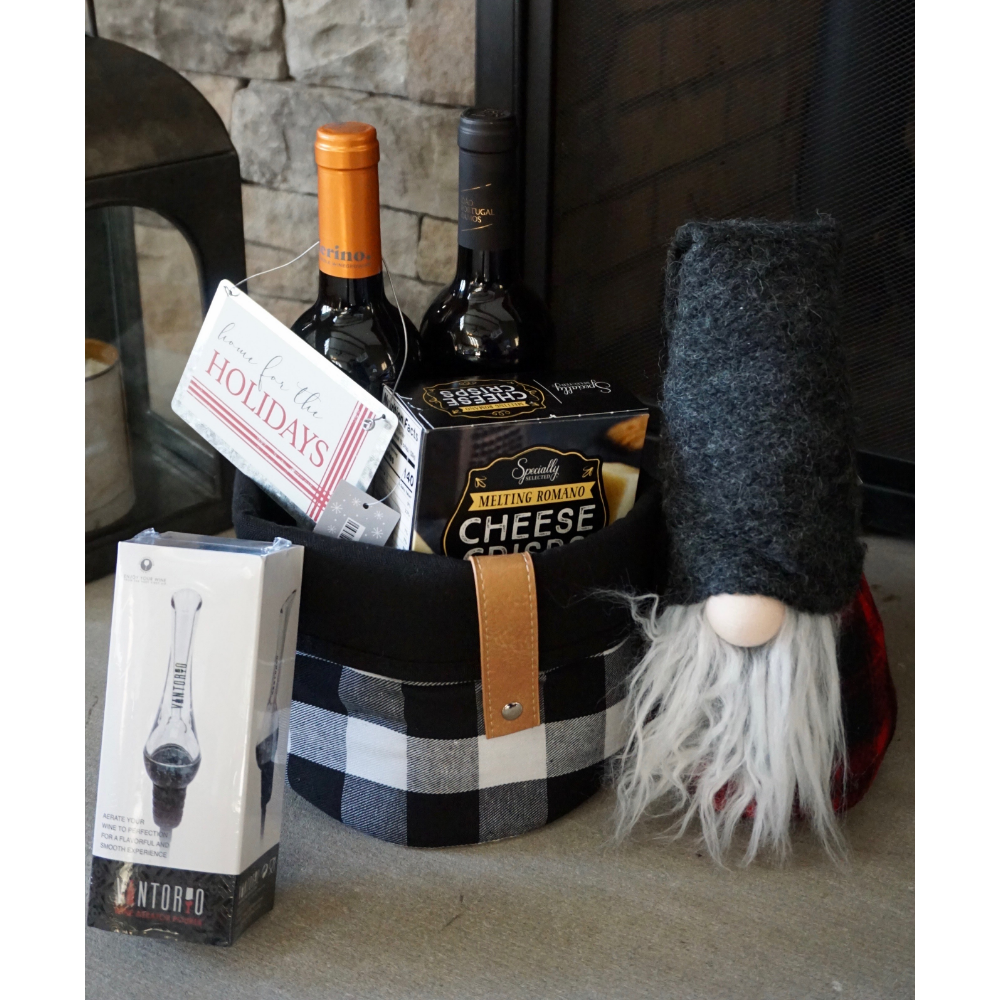 Home for the Holidays Wine Basket