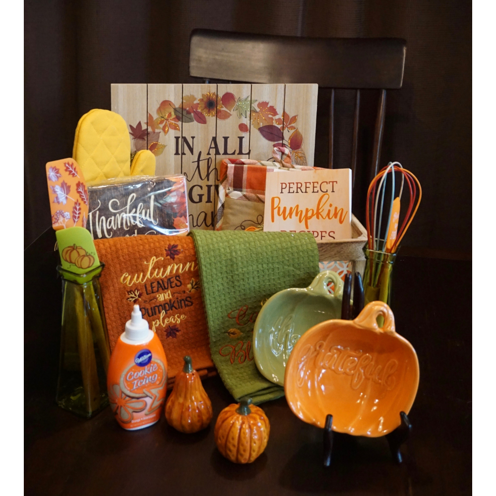 In All Things Give Thanks Basket