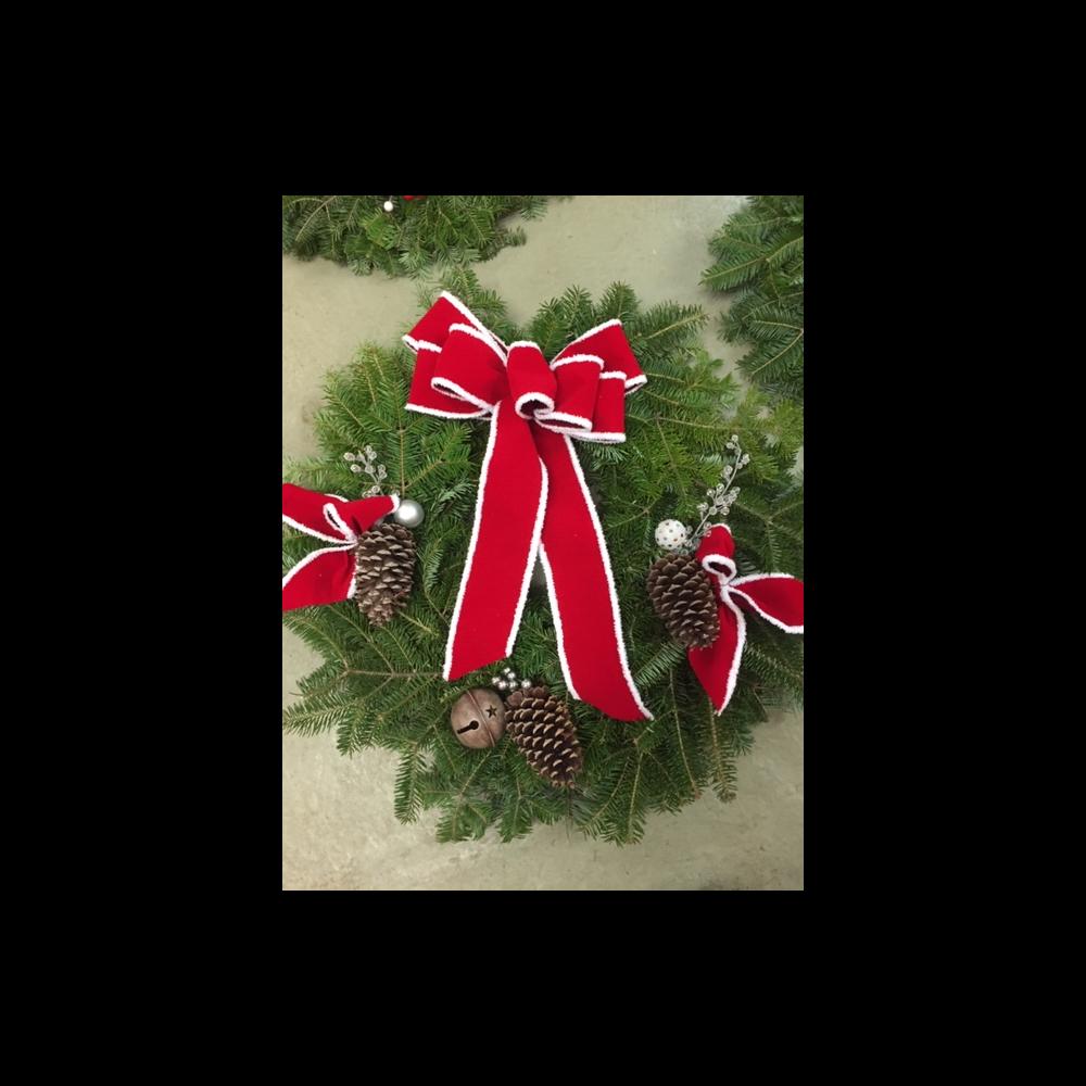 "Custom 12"" Holiday Wreath"