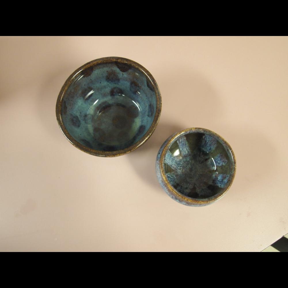 2 handmade bowls