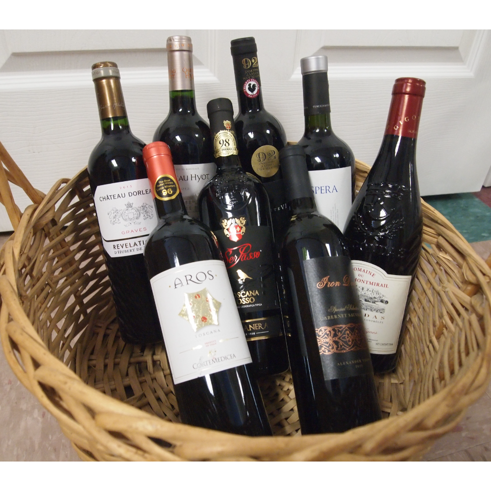 Basket of Red Wine