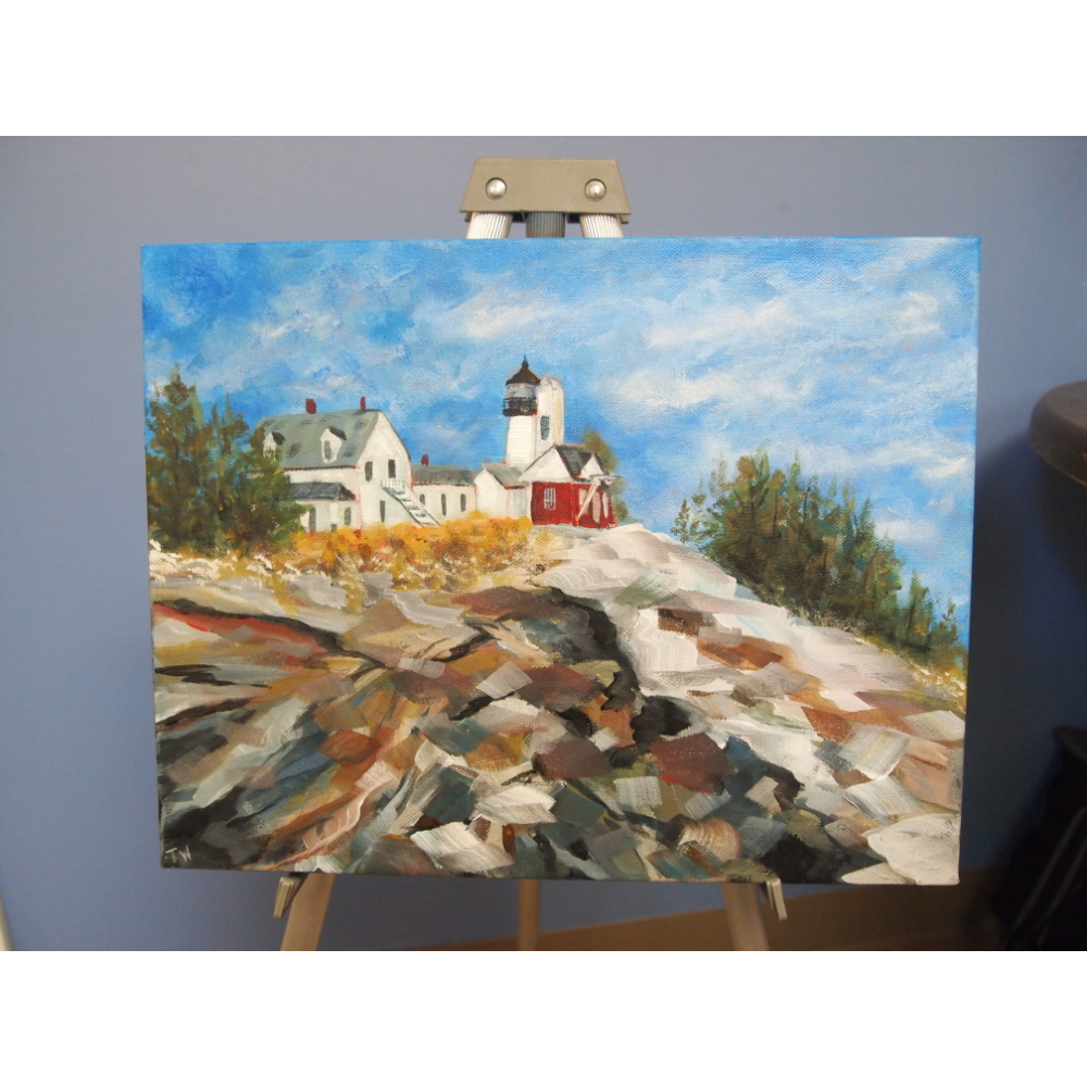 Pemaquid Reflection Canvas Painting