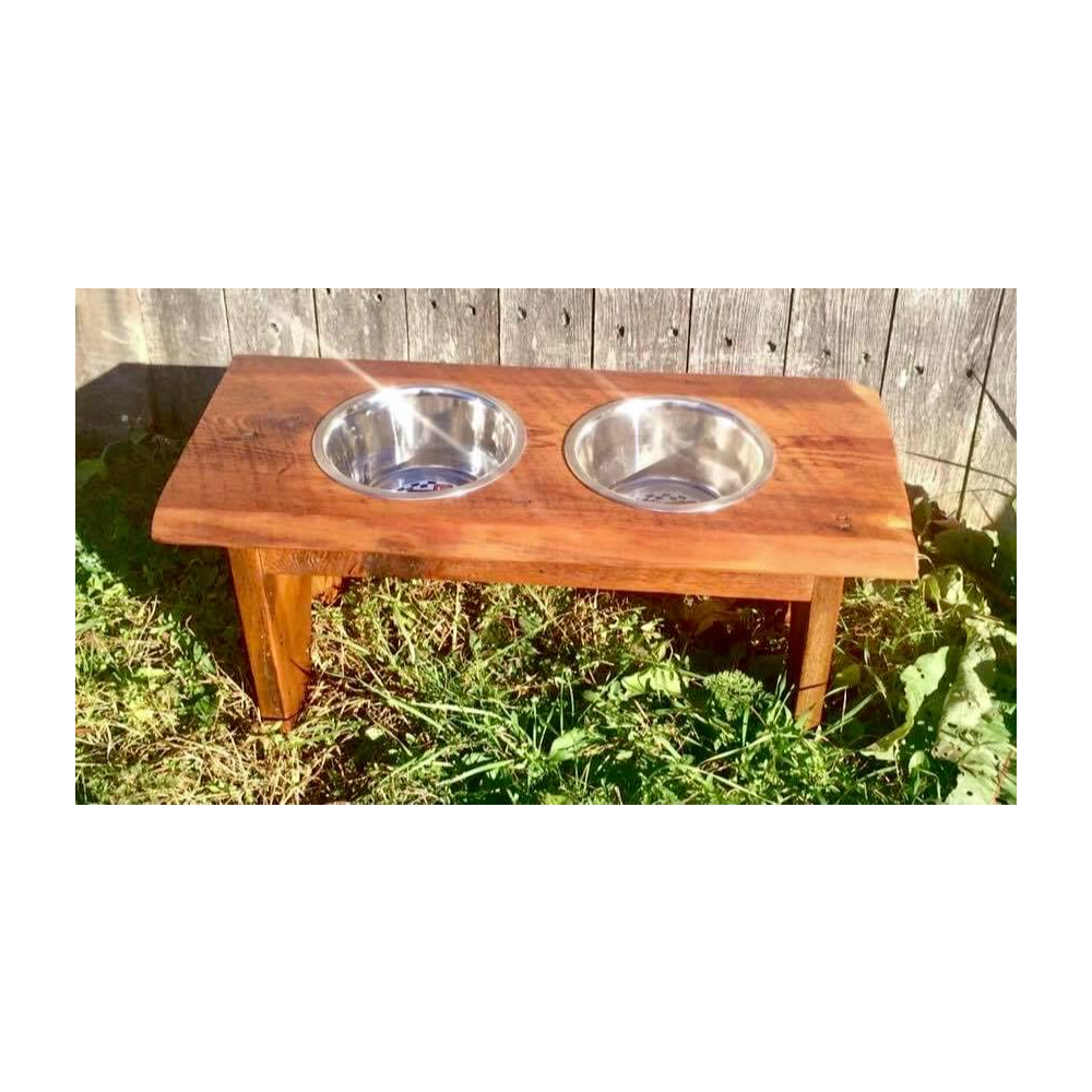 Barn Board Dog Feeder