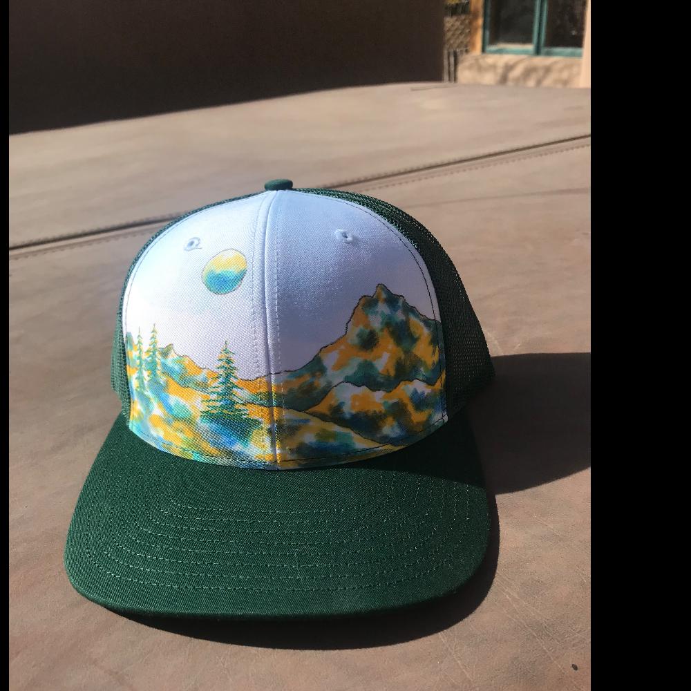 Custom painted baseball cap