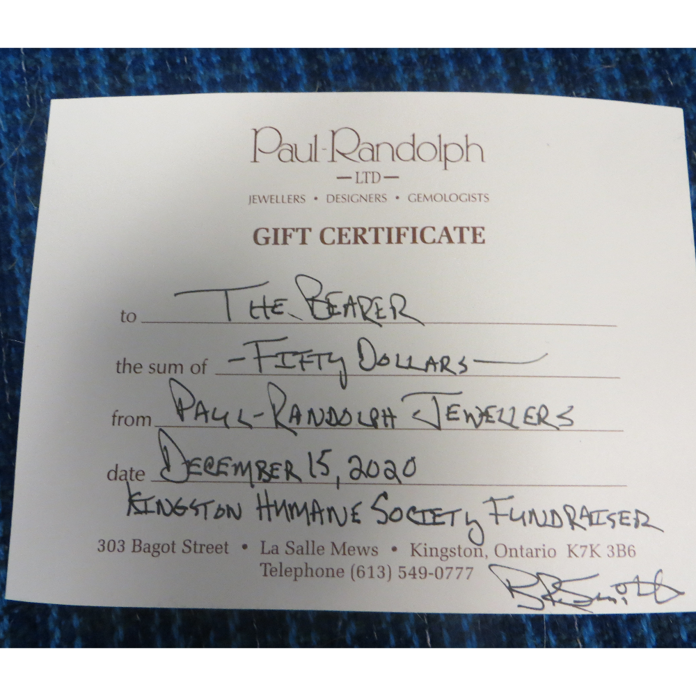 Paul Randolph Jewelers Gift Certificate