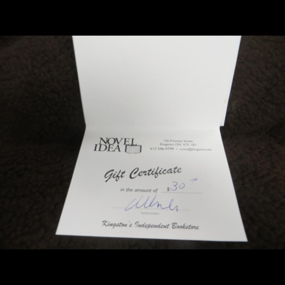 Novel Idea Gift Certificate