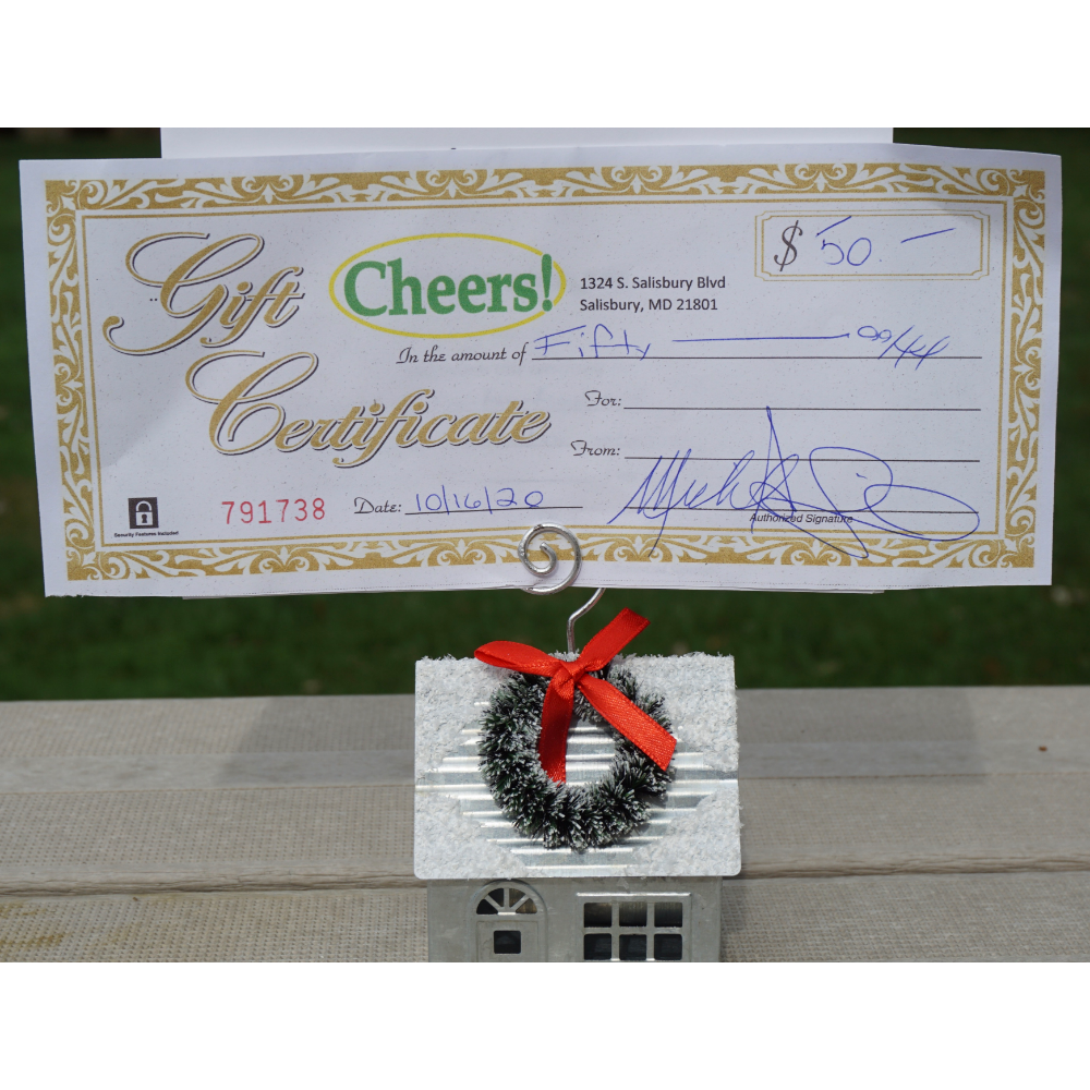 Cheers $50 Gift Certificate