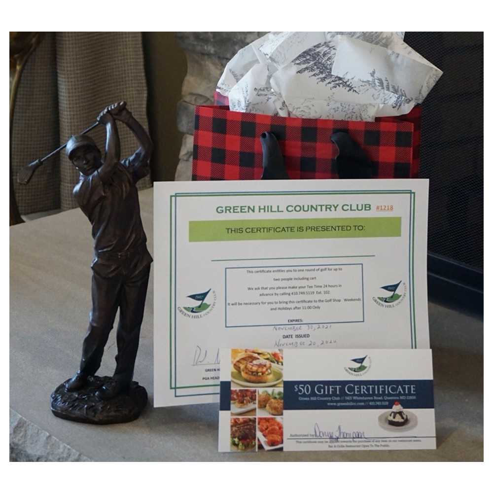Green Hill Golf and Dine $170 Gift Certificate