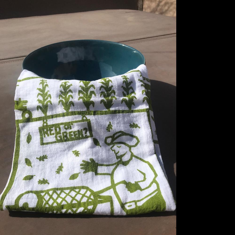 Ceramic Bowl and tea towel