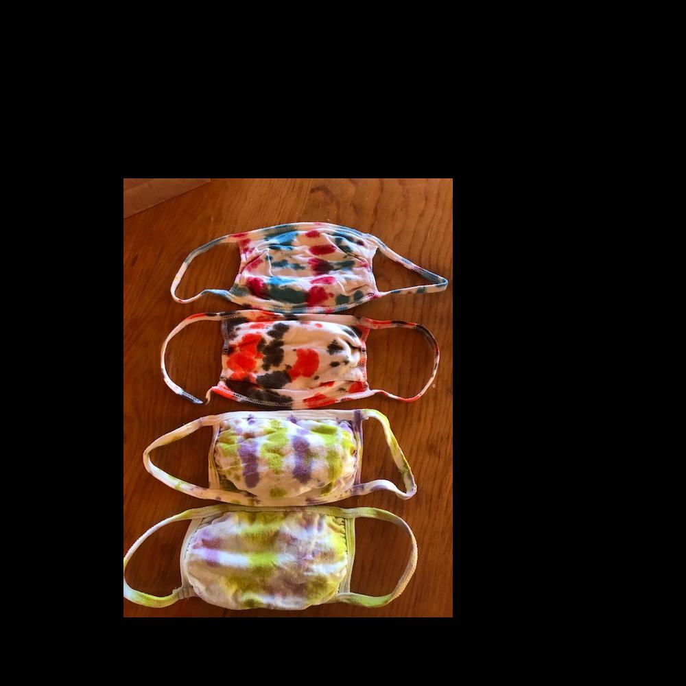 Handmade tie dye face masks