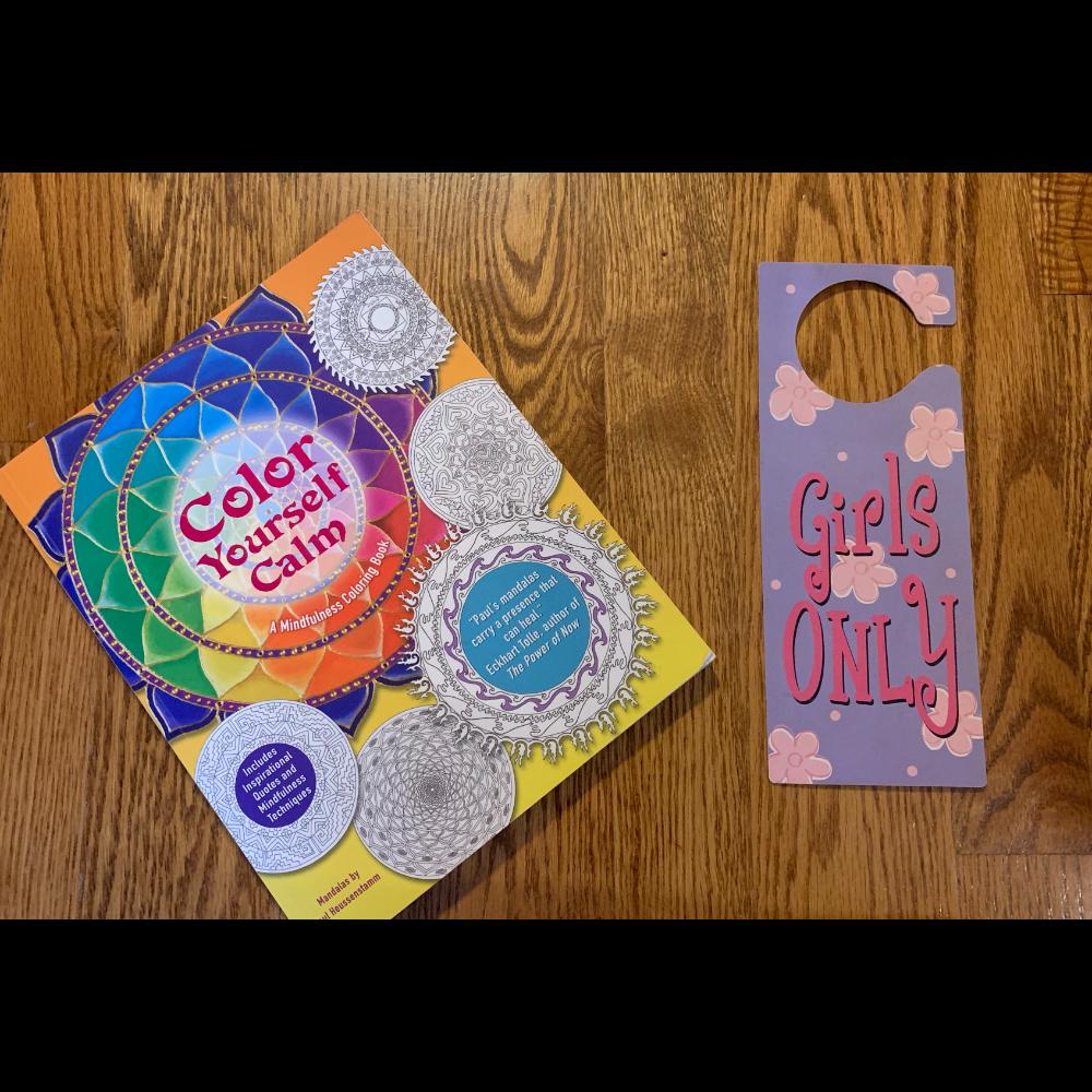 Coloring book and Doorknob hanger
