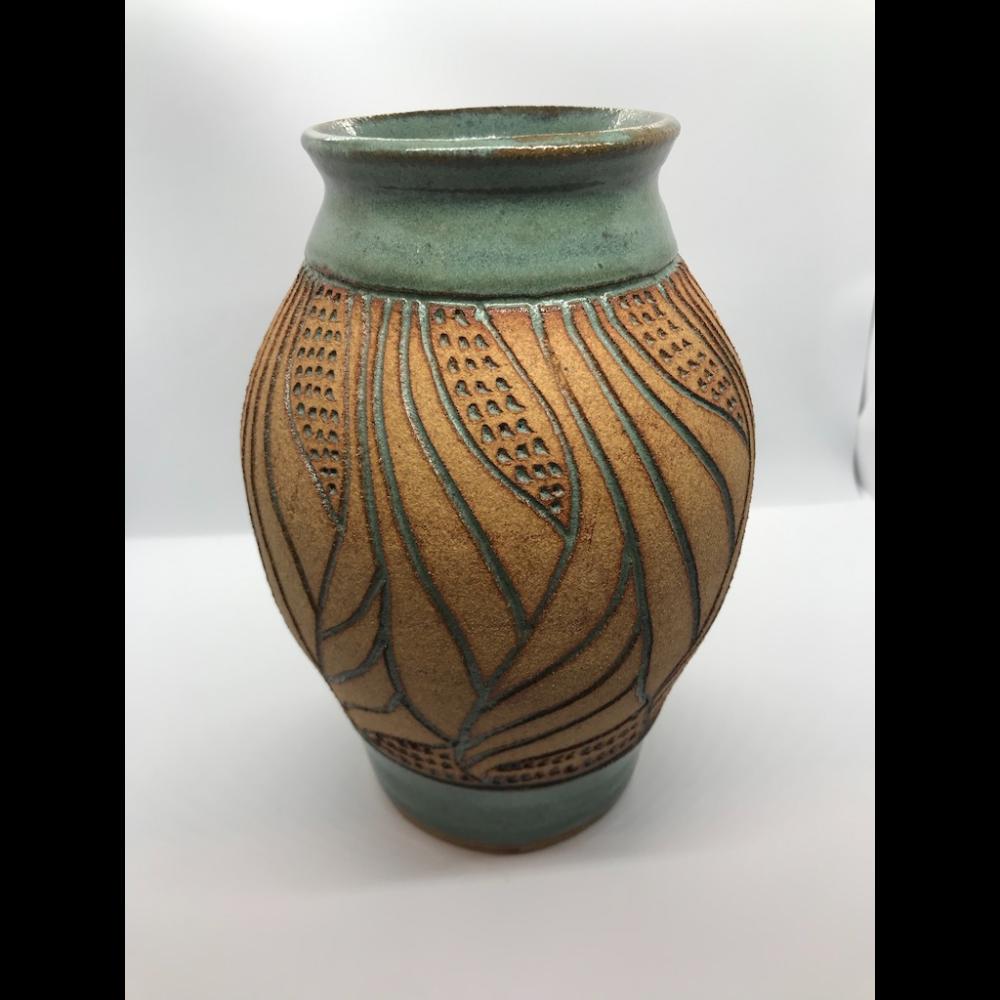 "Ceramic Vase 8"" Tall"