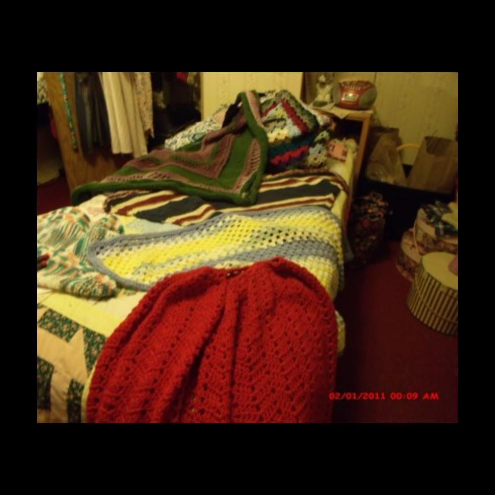 Crocheted Cape & 3 Crocheted Shawls
