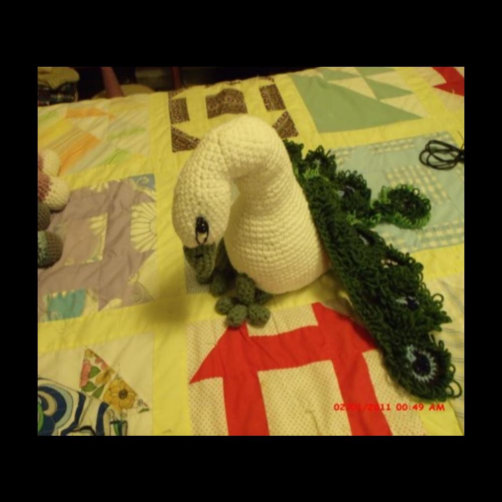 Crocheted Peacock