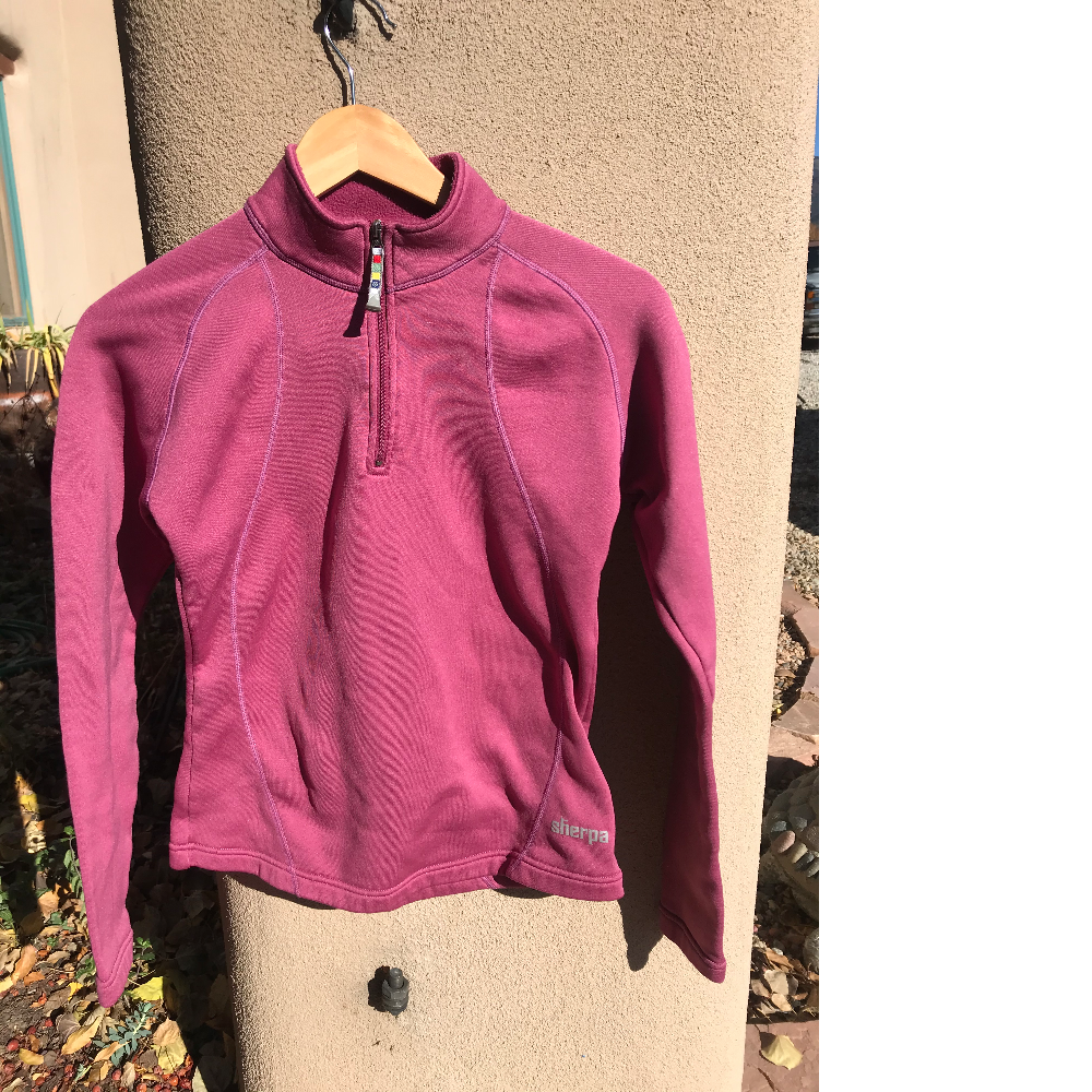 Pink fleece top for women by SHERPA
