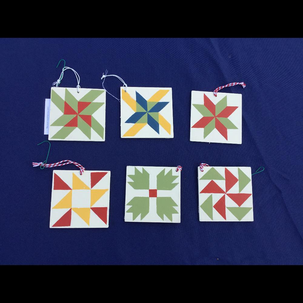 Barn Quilt Ornaments