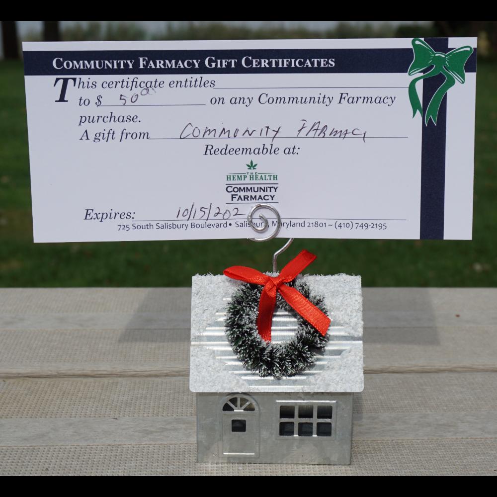 Community Farmacy $50 Gift Certificate