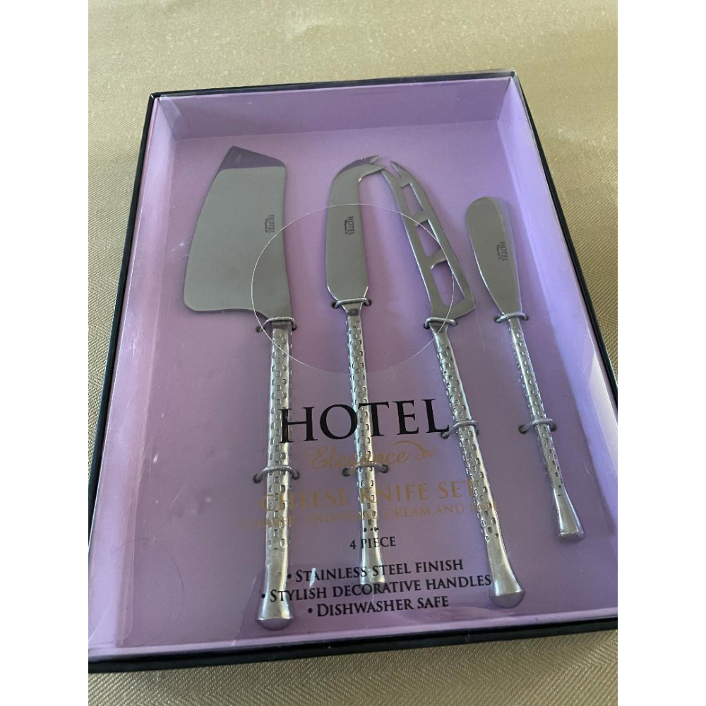 Hotel Collection Stainless Steel Gold Tone 4 Piece Cheese Serving Set